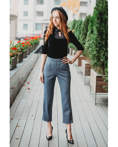 DOLLABLE SHIRT + GREY TROUSERS SET