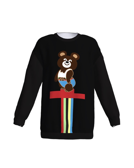 OLYMPIC BEAR OVERSIZED SWEATER