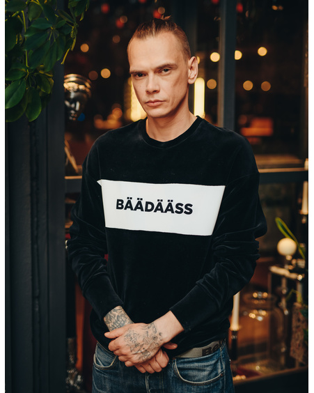 BÄÄDÄÄSS BLACK VELVET SWEATER