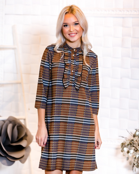 FRONT FRILL LINE DRESS