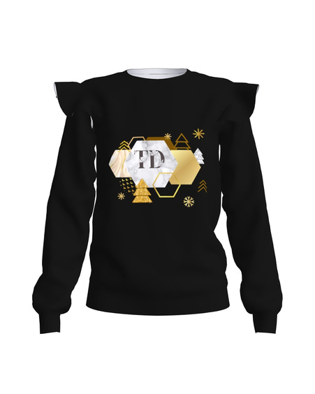 Sweatshirt Frill Golden and Bright