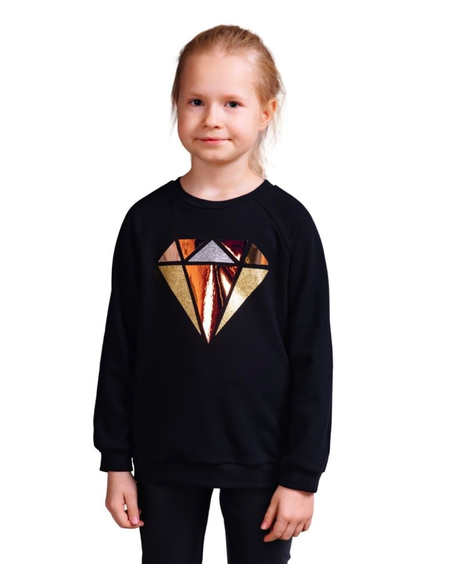 DIAMOND KIDS SWEATSHIRT BLACK