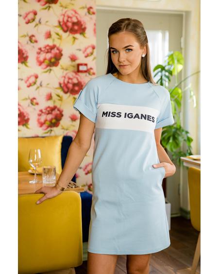 MISS IGANES BLUE PEARL RAGLAN DRES