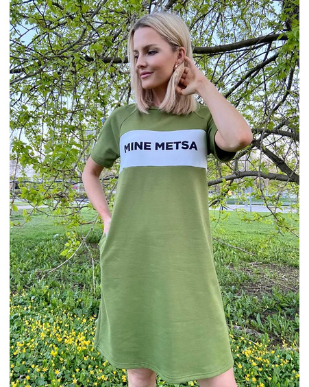 MINE METSA SWEATER DRESS GREEN